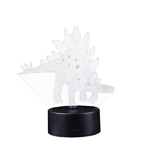 TianranRT - Lámpara infantil 3D de dinosaurio (7 ledes, cambia de color),...
