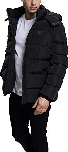 Urban Classics Hooded Puffer Jacket Chaqueta, Negro (Black 7), Medium para Hombre