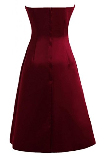 Sunvary una linea Sweetheart Homecoming-Pantaloncini in raso da Cocktail Party Dresses Burgundy