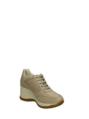 Geox D5275G000CL Sneakers Femme Cuir Beige