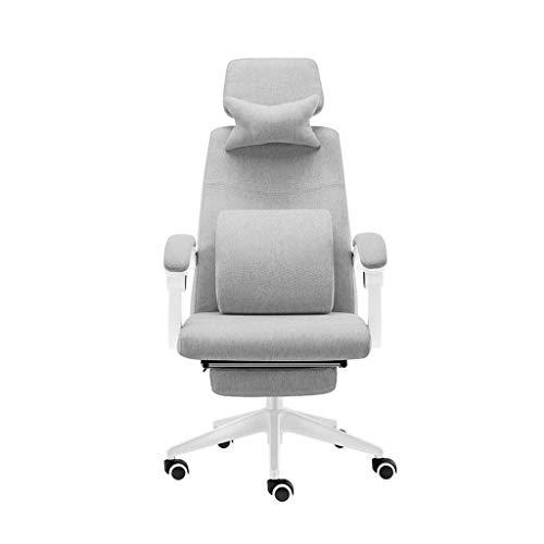 LEOO Ergonomischer Massage-Stuhl mit hoher Rückenlehne, Liegender Home Office-Stuhl Computertisch Task Executive-Stuhl mit Lendenwirbelstütze-Dreh-Rollstuhl für Frauen