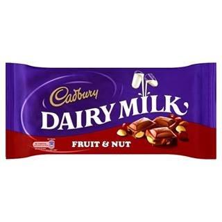 Cadbury Dairy Milk Fruit & Nut 200G x Case of 12