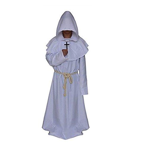 Katech Erwachsene Gewand mit Kapuze Bademantel Mittelalter Mönche Halloween Dekoration Kostüm Fancy Dress Party Standard Kostüm Renaissance Priester (Dress Qualität Hohe Kostüme Fancy)