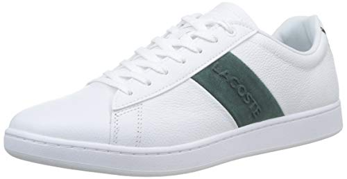 Lacoste Carnaby EVO 319 1 SMA, Zapatillas para Hombre, Blanco Wht/Dk Grn 1r5, 42 EU