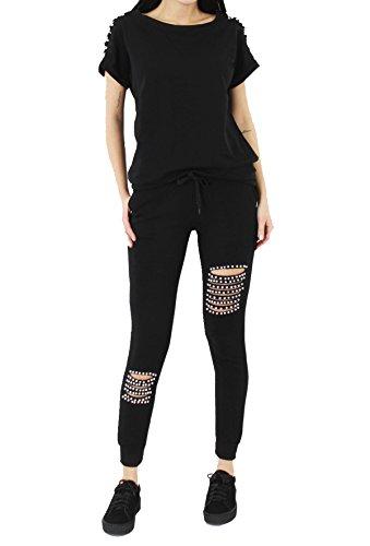 fashion 1st -  Tuta da ginnastica  - Donna Black