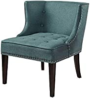 A to Z Furniture - Fabric Occasional Chair in Dark Teal Color