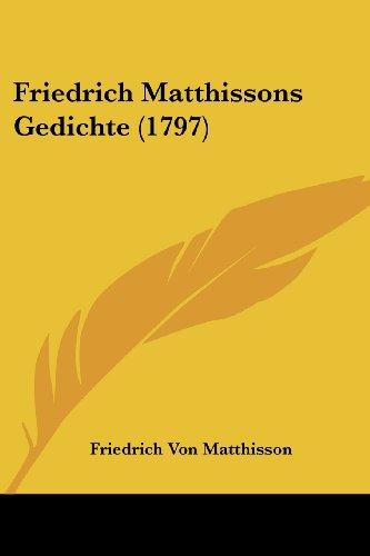 Friedrich Matthissons Gedichte (1797)