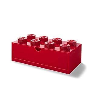 Room Copenhagen 40211731 Lego-Cassettiera impilabile con 8 pomelli, Rosso, 8 Bottoni 5711938032012 LEGO