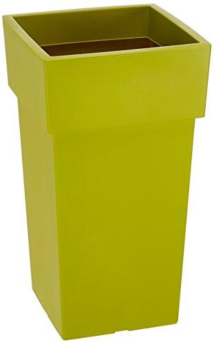 Herstera 584 - Macetero alto, 33 x 33 x 60 cm, verde