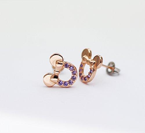 6e6d7848757b Findout f1782 – Pendientes de plata de ley en color rosa oro de circonitas  cúbicas ...