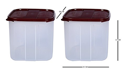 Signoraware Square Modular Container Set, 4.5 Litres, Set of 2