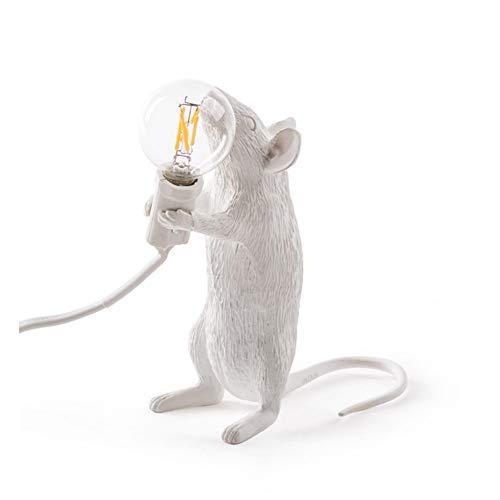 Erwa Moderne Harz Tier Ratte Maus Tischlampe Kleine Mini Maus Nette LED Nachtlichter Schlafzimmer Wohnkultur Schreibtisch Lichter Nachttischlampe Kinder,Station