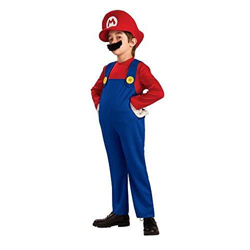 Kostüm Deluxe Kind Mario - Super Mario Bros. Deluxe Kostüm für Kinder - Kinderkostüm Größe 140