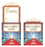 lussball Party-Einladungen, Roter Teppich mit den Abschlussball oder Mottoparty zu hollywood-off a cracking start - 8 Einladungen mit Umschlag, Rot (Roter Teppich Für Den Abschlussball)