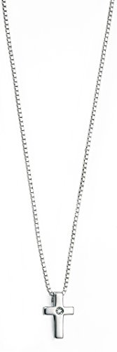 d-for-diamonds-for-childrens-diamond-cross-sterling-silver-pendant-with-chain-of-35-cm