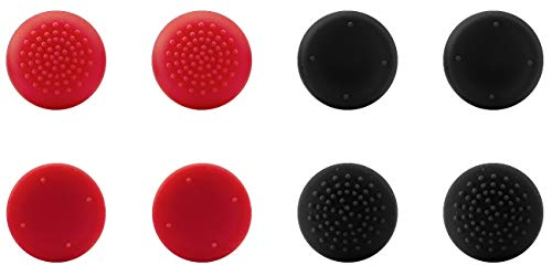 Preisvergleich Produktbild Speedlink STIX PRO Controller Cap Set - 8 Analog-Stick-Aufsätze für den Original-Controller der PS4,  schwarz-rot