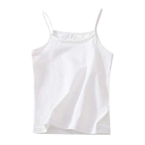 Julhold Kinder Kinder Mädchen Lässig Einfach Solide Ärmellos Süßigkeit Farbe Weste T-Shirt Unterhemd Tops Kleidung 1-6 Jahre