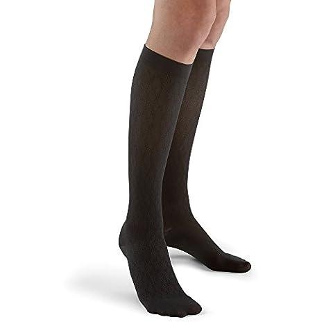 Futuro Revitalizing Trouser Socks For Women, Black Diamond Pattern, Moderate, Large