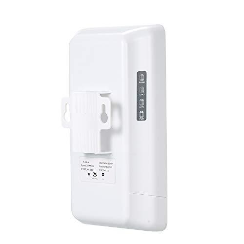 Docooler Wireless Outdoor CPE Brücke Außen AP Router WDS Netzwerk Brücke 2KM Richtantenne 300 Mbps 5,8 Kanal 12dBi Drahtloser Zugang