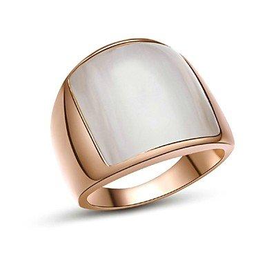 18k bianco / oro placcato uova opale anello dito tono per l'uomo , 9