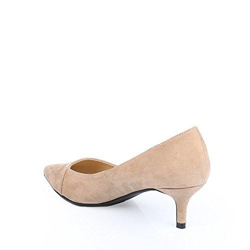 Ideal Shoes - Escarpins au toucher doux Judit Taupe