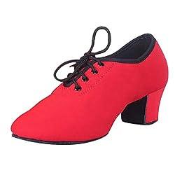 Jazzschuhe mit Schnürsenkel Tanzschuhe aus Feinem Leder für Kinder und Erwachsene Damen Tanzschuhe Standard Latin Dance Schuhe Glattleder Ballsaal By Vovotrade