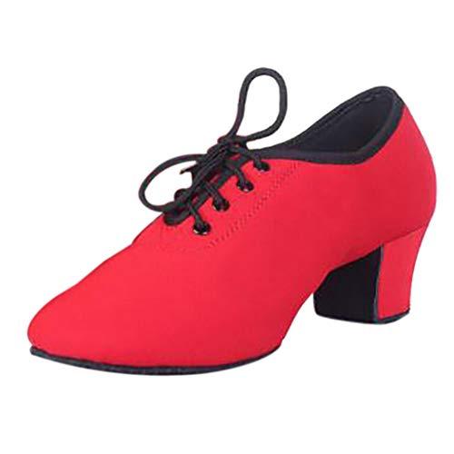 BaZhaHei Sommer Elegante Boho Vintage Damen Frauen Mode Retro Sommer Damenschuhe Sneaker Schuhe Modern Dance Jazz Sneaker (39, rot) - China Flache Schuhe