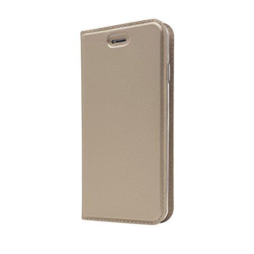 Mioc iPhone 6 Plus/6S Plus Flip Case Golden Ultra Schlanke Premium PU Leder Hülle Ledertasche Lederhülle Ledercase bookcase cover für japan style Original iPhone 6 Plus/6S Plus (5.5 Zoll)