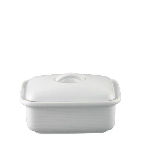 Thomas Trend Weiß - Butterdose mit Deckel für 250 Gramm Butter - Porzelllan