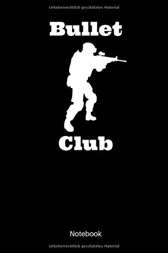 Bullet Club Notebook: Kariertes Militär Notizbuch für alle Soldatinnen und - Swat Sniper Kostüm