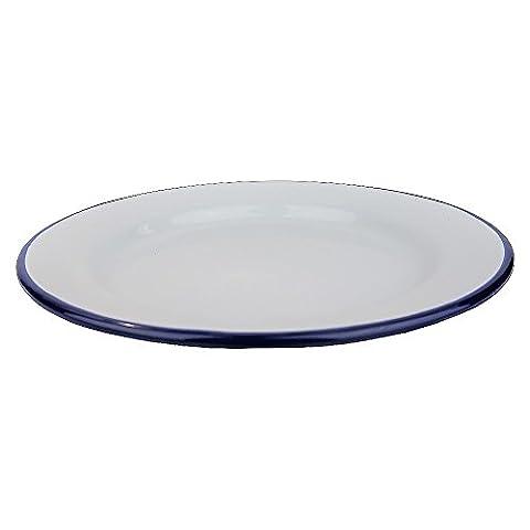 Lot de 6de cuisson à rôtir traditionnel Falcon Assiette Dîner en émail blanc, 24 cm