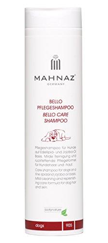 MAHNAZ Bello Hundeshampoo, Fellpflege, vegan, sehr ergiebig, 200 ml