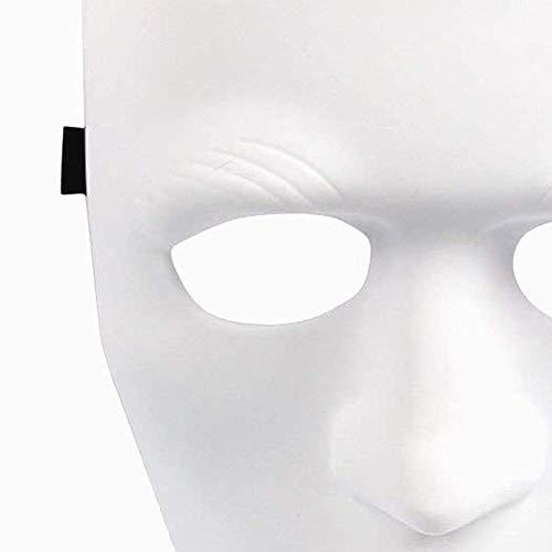 Ogquaton Halloween Maskerade Masken venezianischen Karneval Maske Frauen sexy Glitter Ball Halloween Maske Weihnachten Kostüm Party Maske Feder weiß mit einem Geschenk, Neuheit Schmuck langlebig und