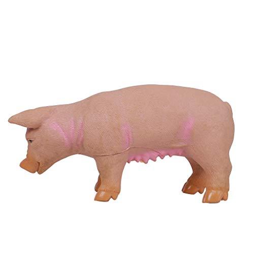 dagogisches Tier Puppe, das Nette Schrillende Quietschende Gummi des Schweins Entspannen Sich Realistisches Spielzeug Perfektes Kinder Geschenk ()