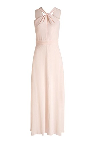 ESPRIT Collection Damen Kleid 046eo1e015-Fließende Chiffon Qualität Rosa (LIGHT PINK 690)