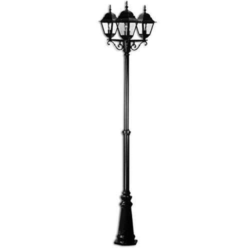 BRAZOS LAMPARAS DE JARDIN EN UN POSTE Y LA LUZ 3 H 2 METROS