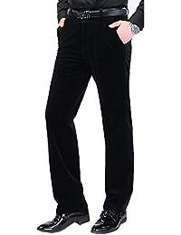 SWISSWELL Homme Pantalon en Velours Côtelé Coupe Droite Tissu Confortable  Pantalon Elastique Casual pour l  c23eb4e9c667