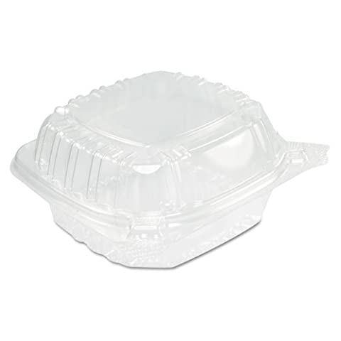 500 X DART Clear Hinged Lid Container Bowl Box Stackable Salad Fruit Cakes