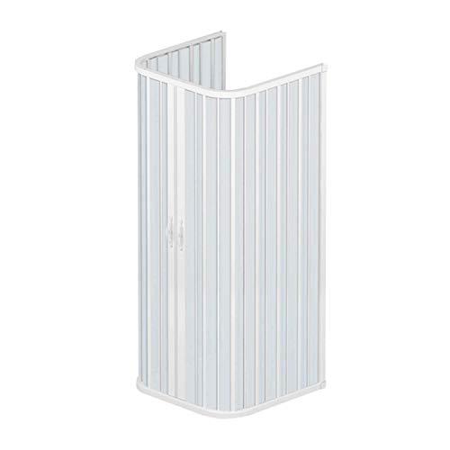 Dreiseitige PVC Duschkabine 90x90 mit zentraler Öffnung Mod. Ariete