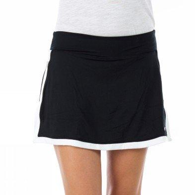 NIKE Damen Tennisrock Nike Border, black/white/white, XS, 405188-010, (Nike Damen Röcke Tennis)