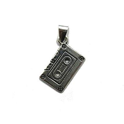 Pendentif en argent massif 925 cassette audio PE001324 Empress