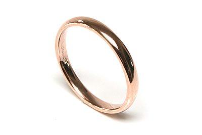 Fede nuziale in oro rosa 9carati 3mm anello, misura , made in england, marchiato
