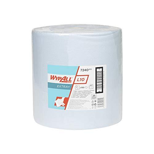 WypAll 7240 L10 Extra+ Wischtücher, Großrolle 1-lagige, 1 Rolle x 1,000 Wischtüchern, blau