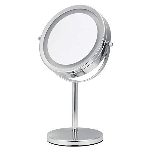 Makeup Mirror LED Leuchtet 7X Vergrößert Schminkspiegel Tischplatte Doppelseitig 360 ° Drehung Bad Reise Rasieren (mit EIN/Aus-Taster) Wenaqin
