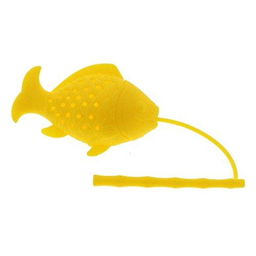 MMRM 1Pc Mignon Pêche Forme en Silicone Herbe Feuilles de Thé Passoire Filtre Infuseur Couleur Aléatoires
