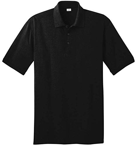 Joe's USA Herren Poloshirt, hoch, Tiefschwarz -