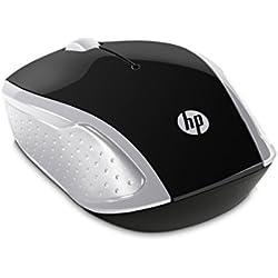 HP Mouse 200 Souris sans fil - 1 000 DPI - Ambidextre - Argent