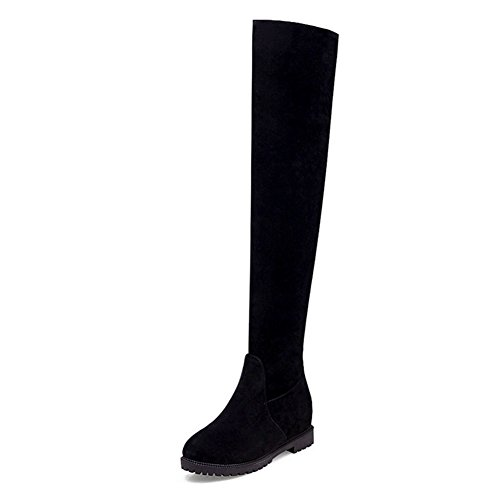 flat-over-the-knee-boots-stovepipe-stretch-boots-winter-padded-boots-high-boots-large-size-women-boo