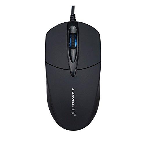 Yowablo USB-Wired Maus 3 Knopf 1200 DPI USB verdrahtete stilles optisches Spiel-Mäusemäuse für PC Laptop (schwarz)