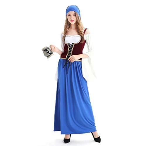 Halloween-Kostüm, sexy Oktoberfest Magd Kostüm Rollenspiel Bühnenkostüm,L